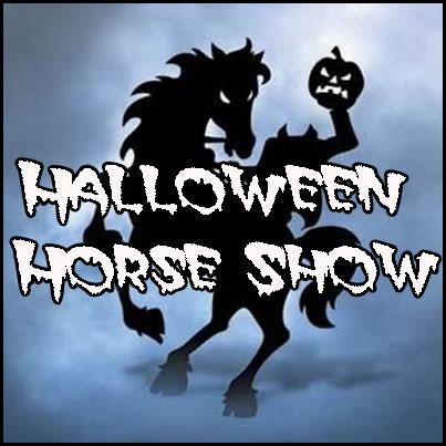 Halloween horse show button
