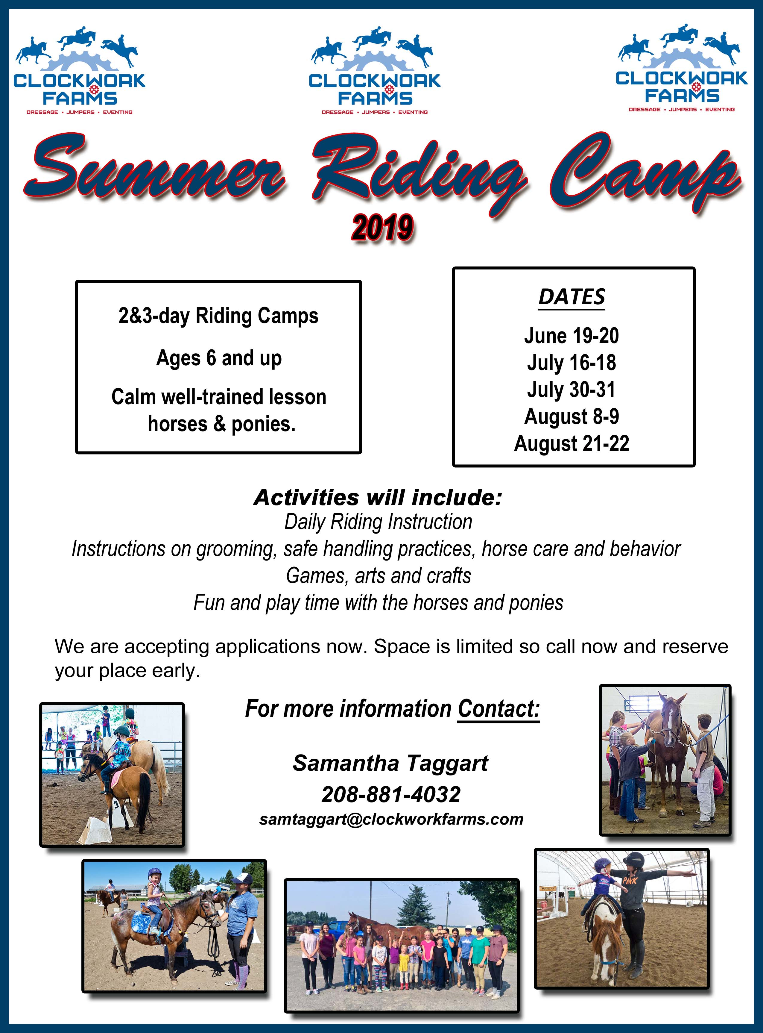 Summer Riding Camp – Welcome to Clockwork Farms